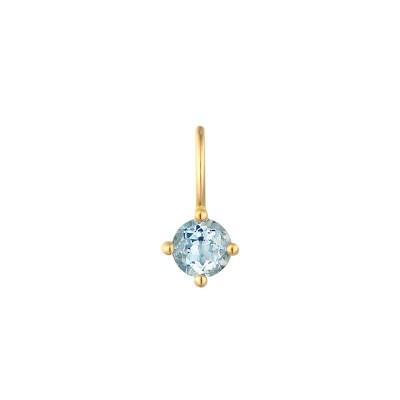 March Aquamarine Necklace Charm