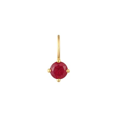 July Ruby Necklace Charm