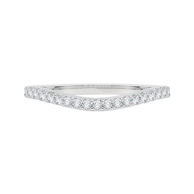18K White Gold Round Diamond Wedding Band