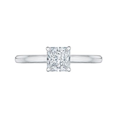 18K Two-Tone Gold Princess Cut Diamond Engagement Ring (Semi-Mount)