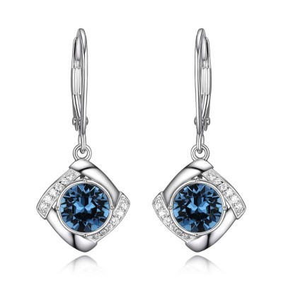Lady's Silver Polished Sterling Silver Earrings