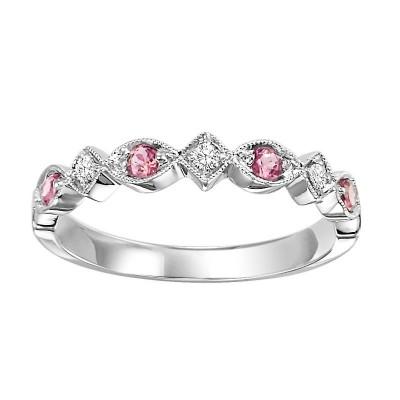 10K Pink Tourmaline & Diamond Mixable Ring