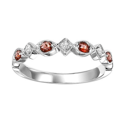 10K Garnet & Diamond Mixable Ring