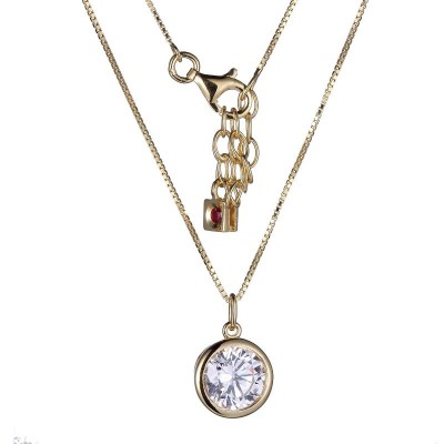 Lady's Gold Plated Silver  Cz Pendant