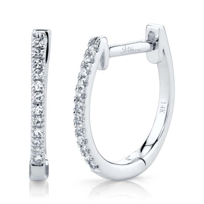 0.08Ct Diamond Huggie Earring