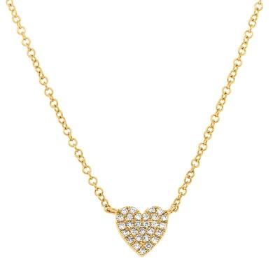 0.09Ct Diamond Pave Heart Pendant