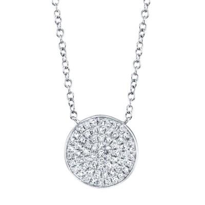 0.15Ct Diamond Pave Circle Necklace