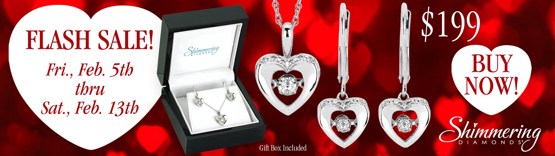 Shimmering Diamonds Valentine Gift Set