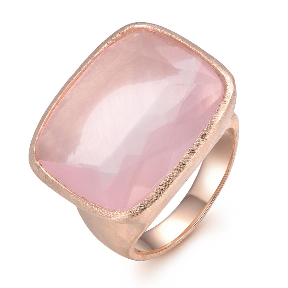 Piara Rose ring featuring Rose Quartz Cushion - PR0027