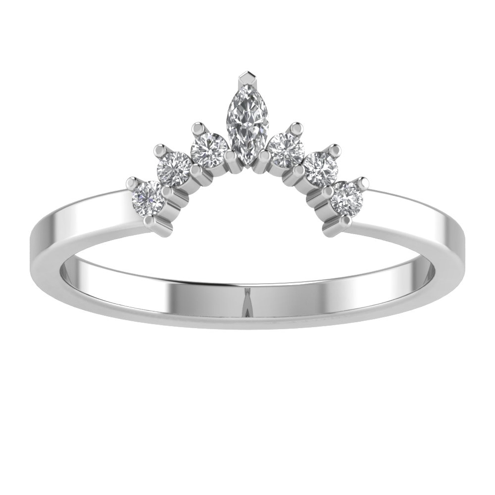 Sunrise Tiara Crown Wedding Band