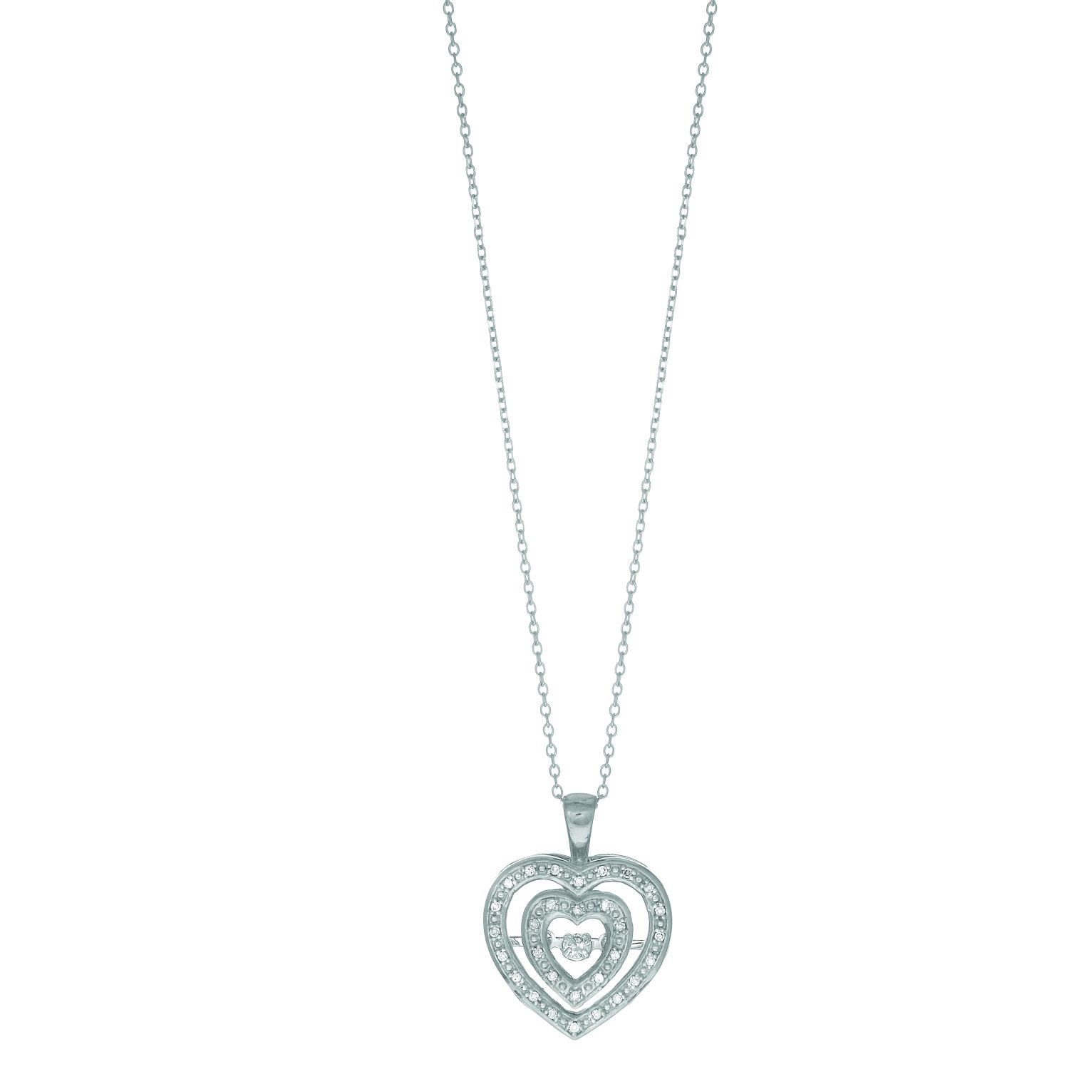 14k White Gold 012ct Diamond Pendant On 08mm Cable Link Chain Wiring Black Silver With Lobster Clasp Dgp729